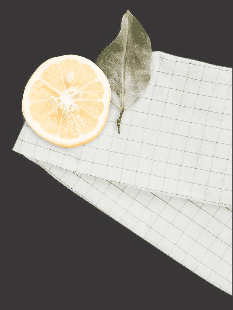 serviette-citron-feuille